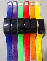 LED Часы - Браслет УЗНАВАТЬ ЦВЕТ! Спортивные Силиконовые Детские Наручные Лед 2в1 008634