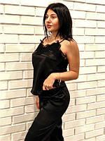 Атласный  женственный  комплект майка и штаны, фото 1