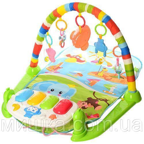 """Розвиваючий килимок 830*510 мм для немовляти з піаніно і проектором """"Зоряне небо"""" 698-54-54А-55-1"""