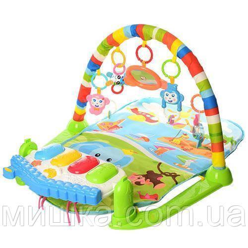 "Развивающий коврик 830*510 мм для младенца с пианино и проектором ""Звездное небо"" 698-54-54А-55-2"