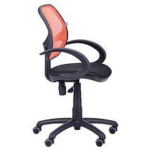 Кресло Байт/АМФ-5 сиденье Сетка черная/спинка Сетка оранжевая, фото 2