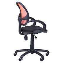 Кресло Байт/АМФ-5 сиденье Сетка черная/спинка Сетка оранжевая, фото 3