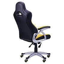 Кресло Форсаж №7 черный/желтый, фото 2
