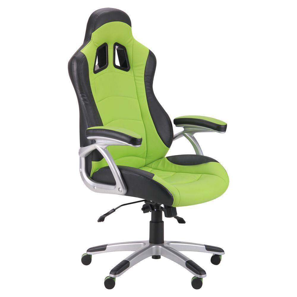 Кресло Форсаж №6 черный/зеленый