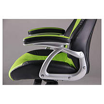 Кресло Форсаж №6 черный/зеленый, фото 3
