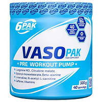 Предтренировочный комплекс 6pak Nutrition VASO PAK (Pre-Workout for Bodybuilders), 320 g, фото 1