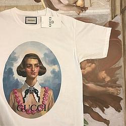 Gucci белая футболка. Ориг бирка