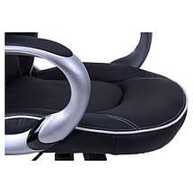 Кресло Страйк (CX 0496H Y10-02) Черный/кант Белый, фото 3