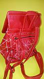 Рюкзак женский красный, фото 6