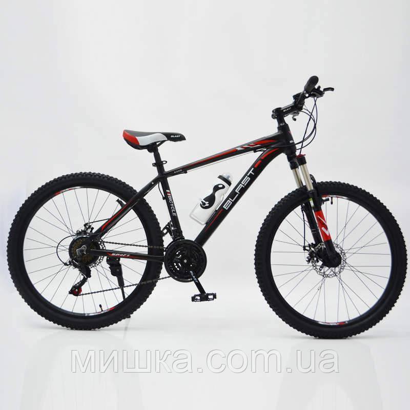 """Стильный спортивный велосипед BLAST-S300 26"""", рама 17"""", красный"""