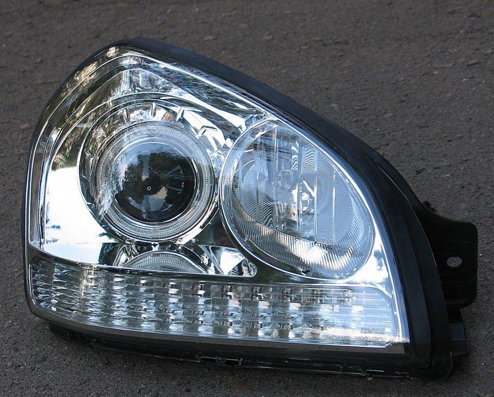 Hyundai  Tucson  оптика передняя хром ксенон