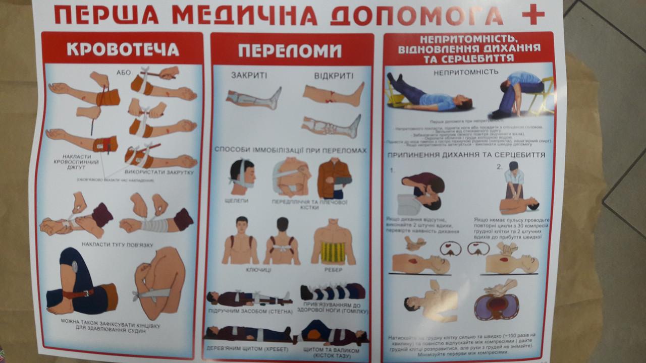 """НП Плакат (школа) """"Світ Поздоровлень А2""""/перша медична допомога"""