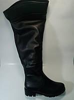 Женские кожаные зимние  ботфорты на широкое голенище ТМ Камея, фото 1