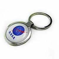Брелок для ключей металлический круглый с логотипом