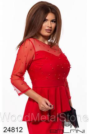 Красивое коктельное женское  платье(48-52),доставка по Украине, фото 2