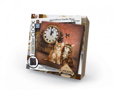 """Данко-Тойс Набор для тв. """"Часы"""" Embroidery clock/котята"""