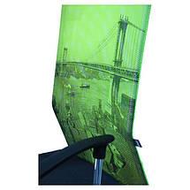 Кресло АЭРО HB сиденье Сетка серая, боковины Zeus 047 Light Green/ спинка Сетка лайм-Brooklyn Bridge, фото 3