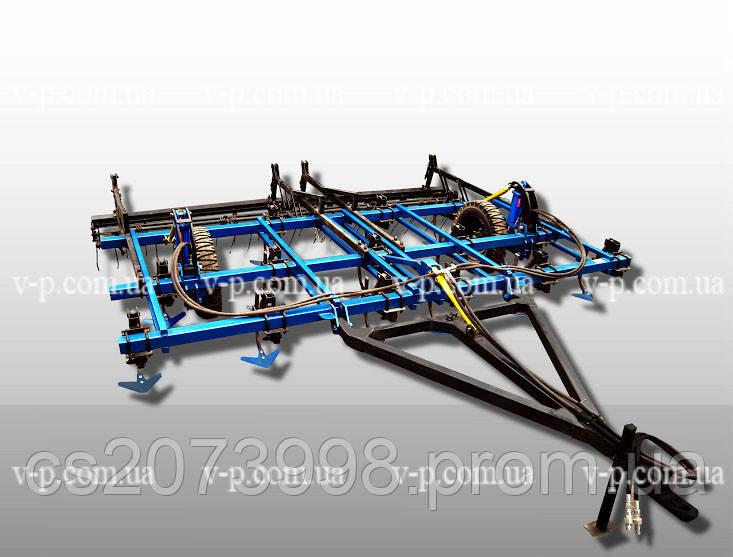 Культиватор трёхрядный  КПС 5 с пружинной бороной и катком