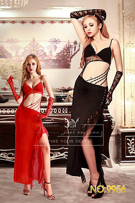 Красное элегантное платье S/M