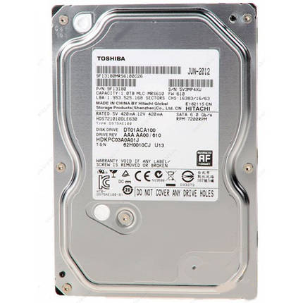 ➤Внутренний жесткий диск HDD TOSHIBA SATA3 1 TB 7200 rpm 32 Mb DT01ACA100 винчестер HDD для компьютера, фото 2