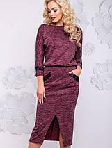 Женское облегающее платье-миди из ангоры (2933-2936-2935-2934-2932 svt), фото 2