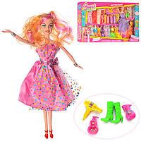 Кукла типа барби 29 см с нарядами и аксессуарами, платья 17 шт, обувь, 5504