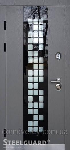 Двери входные металлические Manhattan Grey Light серия MAXIMA
