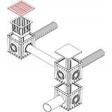 Решетка дождеприемника 300х300 серая класса нагрузки А15 ПВХ ZMM MAXPOL, фото 3