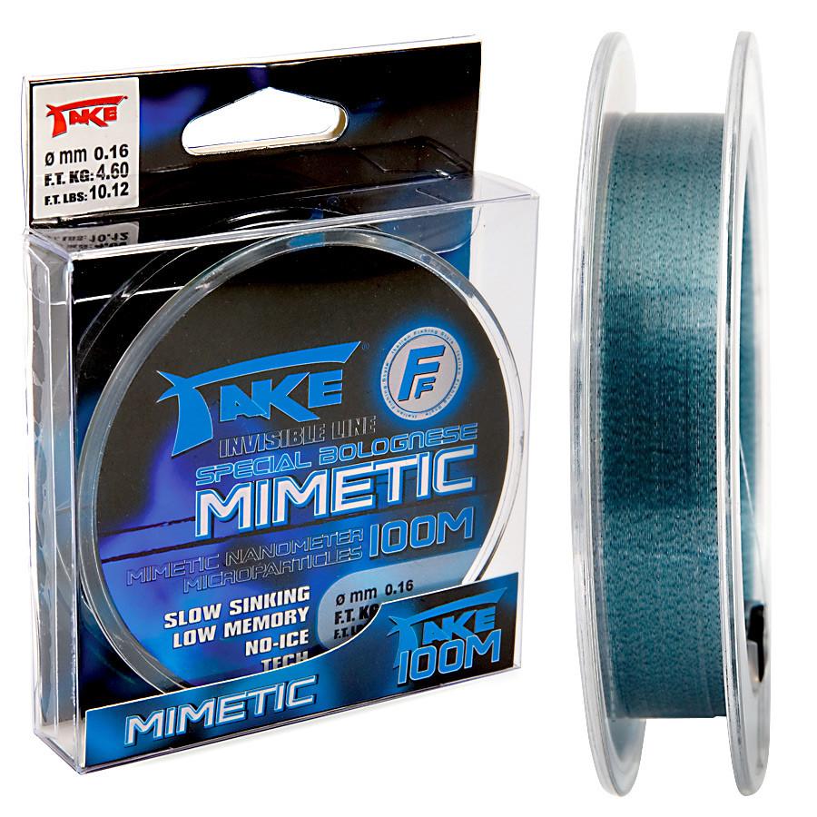 Леска-хамелеон антилёд Lineaeffe Take Mimetic (blue) 100м. 0.14мм. FishTest 3,6кг
