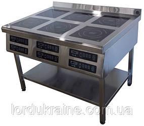 Індукційна плита 6-ти конфорочна підлогова 3,5 кВт ТМ Tehma
