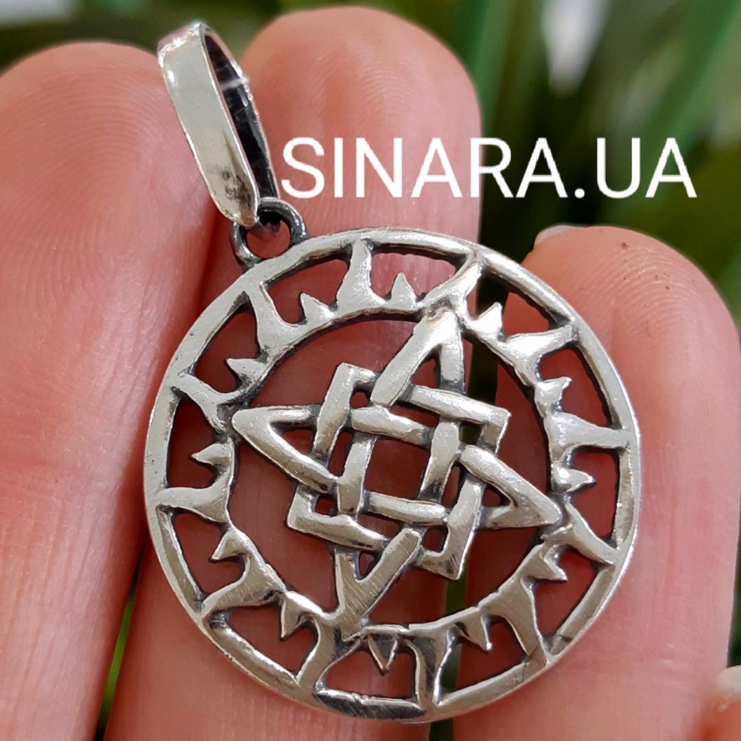 Подвеска амулет Квадрат Сварога серебро 925 - Кулон Сварога серебрянный