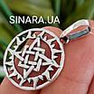 Подвеска амулет Квадрат Сварога серебро 925 - Кулон Сварога серебрянный, фото 2