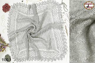 Оренбургская серая паутинка Моника 115см х 115см, фото 2