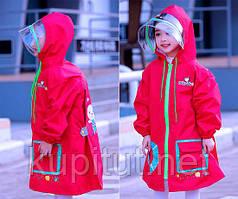 Плащ-дождевик детский (красный)