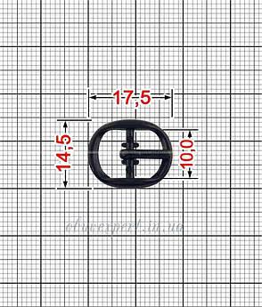 Пряжка 10 мм Черный никель, фото 2