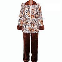 Тёплая пижама женская, материал махра, пижама яркая. Размеры 44,46,48,50,52,54,56,58,60,62,64.