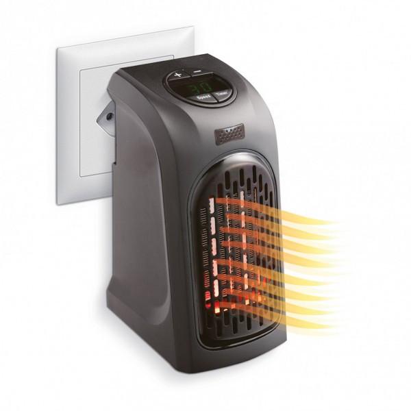 Обігрівач Rovus Handy Heater 400 ВАТ, обігрівач для дому / офісу в розетку з регулюванням температури