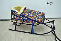 Меховой конверт на завязках для санок и колясок