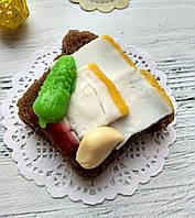 """Мыло ручной работы """"Бутерброд с салом"""""""