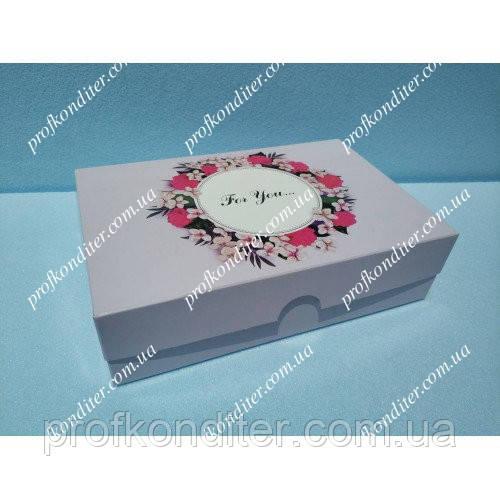 """Коробка для эклеров, зефира """"For you"""" розовая"""