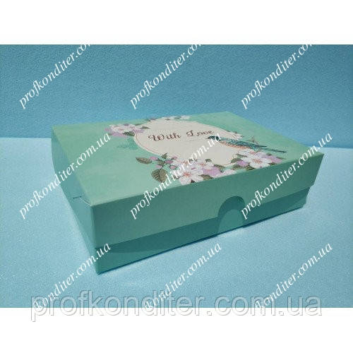 """Коробка для эклеров, зефира """"With Love"""""""