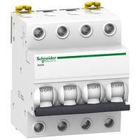4P 10A C 6кА Модульний автоматичний вимикач A9K24410, фото 1