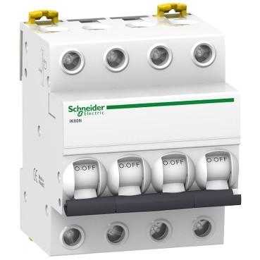 4P 25A C 6кА Модульний автоматичний вимикач A9K24425