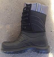 Сапоги мужские зимние черные на шнуровке оптом