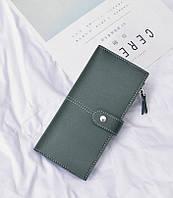 Женский кошелек двойного сложения зеленый, фото 1