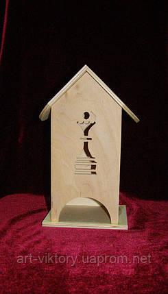 Дерев'яна коробка для чаю Ферзь (10 х 10 х 23 см), фото 2
