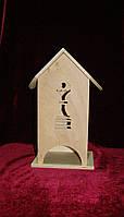 Деревянная коробка для чая Ферзь (10 х 10 х 23 см)