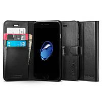 Чехол-книжка Spigen для iPhone SE 2020/8/7 Wallet S, Black (054CS22635), фото 1