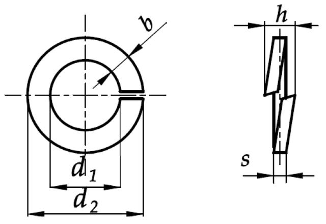 Шайба Ф22 DIN 127 - чертеж