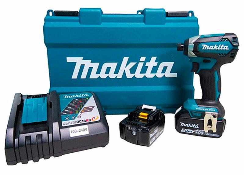 Аккумуляторный ударный шуруповерт Makita DTD153RFE + 2 акб 18 V 3 Ah + з/у + кейс